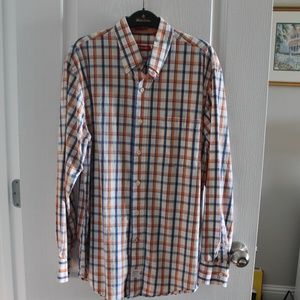 Izod Button Front Men's Shirt SZ M